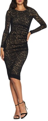 Dress the Population Mona Lace Body-Con Long Sleeve Dress
