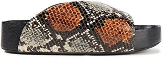 Simon Miller Padded Snake-effect Leather Slides