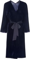 Nili Lotan Rochelle Belted Velvet Dress