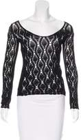 Dolce & Gabbana Crocheted V-Neck Sweater