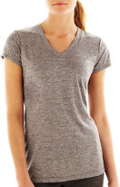 JCPenney Xersion Quick-Dri Short-Sleeve Melange Tee