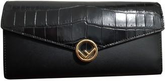 Fendi Kan I logo Black Crocodile Clutch bags