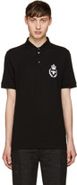 Dolce & Gabbana Black Embroidered Polo