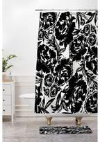 Deny Designs Floral Bath Mat Black