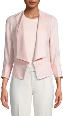 Anne Klein Textured Drape Front Jacket