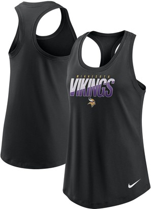 Nike Women's Black Minnesota Vikings Light Impact Performance Racerback Tank Top