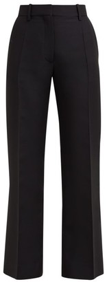 Valentino Tailored Virgin-wool Blend Trousers - Black