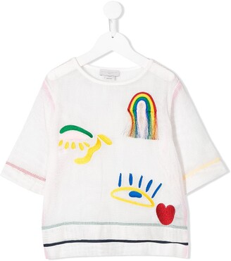 Stella McCartney Embroidered Motif Top