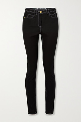 Balmain Embroidered High-rise Skinny Jeans - Black