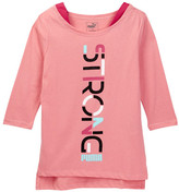 Puma Strong 3/4 Length Sleeve Tee (Big Girls)