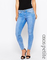 Asos Whitby Skinny Low Rise Jeans in in Azure Light Stonewash