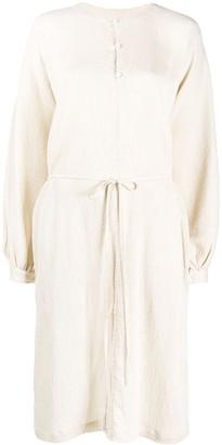 Raquel Allegra Textured Shirt Dress