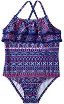 Carter's Girls 4-6x Tribal Ruffle One-Piece Swimsuit