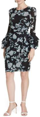 Diane von Furstenberg Faridah Draped Mesh Dress