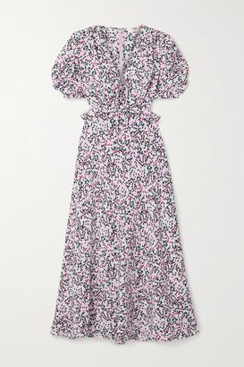 Diane von Furstenberg Sloane Floral-print Silk-crepe Midi Dress - Lilac