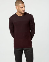 Le Château Textured Stripe Cotton Crew Neck Sweater