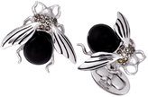 Jan Leslie Onyx & Marcasite Fly Cuff Links