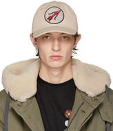 Lanvin Beige Arrow Patch Cap