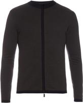 Giorgio Armani Zip-through wool sweater