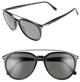 Persol Men's Sartoria 55Mm Polarized Sunglasses - Black/ Green