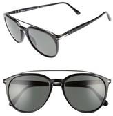 Persol Men's Sartoria 55Mm Polarized Sunglasses - Black/ Green