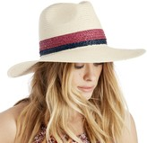 Sole Society Wide Brim Straw Hat with Raffia Band