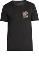 Balmain Badge-embroidered crew-neck cotton T-shirt