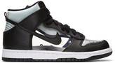 Comme des Garcons Black NikeLab Edition Dunk Hi Retro Invisible High-Top Sneakers