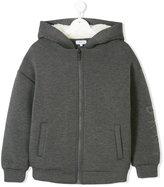 DKNY Teen faux fur lined hoodie