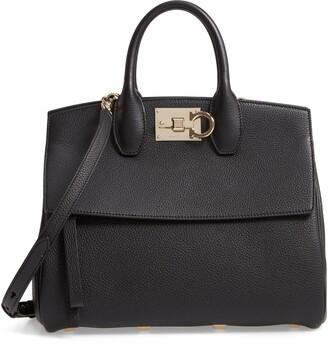Salvatore Ferragamo Small The Studio Leather Top Handle Bag