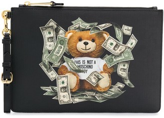 Moschino Dollar Teddy Bear Clutch