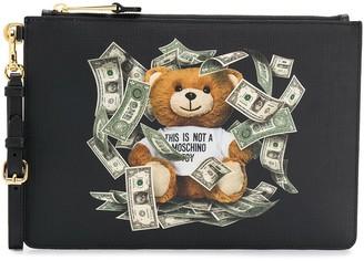 Moschino dollar teddy bear clutch