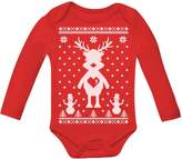 TeeStars Reindeer Love Ugly Christmas Sweater Xmas Grow Vest Baby Long Sleeve Onesie