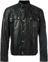 Belstaff Champion Patch leather effect jacket - men - Cotton/Viscose - 52