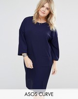 Asos Shift Dress In Texture With Pockets