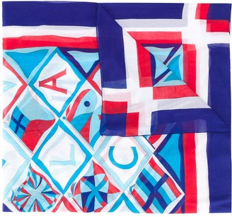 Hermes 1990s pre-owned Vive La France cotton scarf