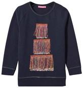 Le Big Navy Tassel Detail Berkley Sweatshirt