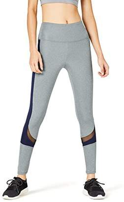 Active Wear Activewear Women's Color Block Mesh Panel Sports Leggings, (Manufacturer size: )