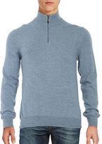 Black Brown 1826 Merino Wool Quarter-Zip Sweater