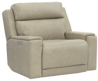 Bernhardt Emerson Genuine Leather Power Recliner Motion Type: Wall Hugger