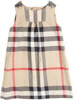 Burberry Check Light Cotton Gabardine Dress