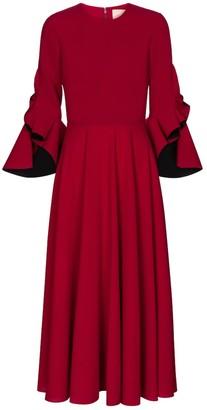 Roksanda Caden crepe midi dress