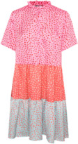 Culture Pink Printed Cualett Mix Dres - XS