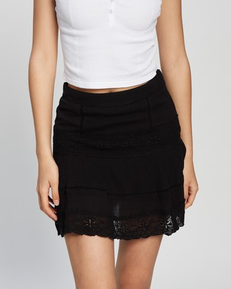 Topshop Crinkle Lace Flippy Skirt