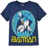 Junk Food Clothing Batman Tee (Toddler/Kid) - True Navy - XS