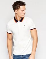 Jack & Jones Pique Polo Shirt With Retro Contrast Collar