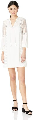 Jack by BB Dakota Junior's Date with Destiny Rayon Crepe Dress with Circular lace Trim