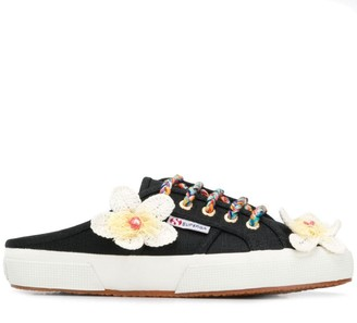 Alanui x Superga flower backless sneakers