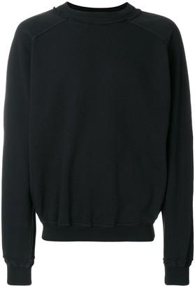 Haider Ackermann Distressed Neck Line Sweatshirt