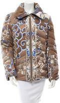 Emilio Pucci Signature Print Puffer Coat